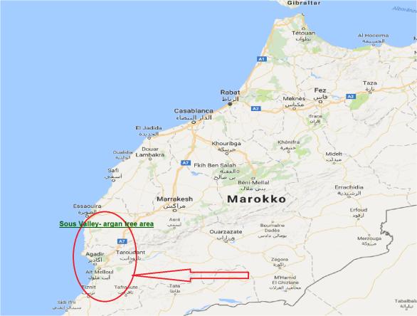 kaart-marokko